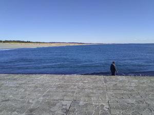 福田港サーフ突堤上東景観