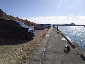 福田港西側手前南方眺