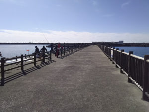 福田港桟橋入口直後